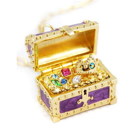 disney couture mermaid treasure chest necklace