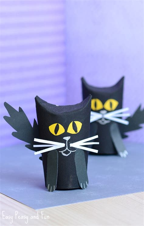 Black Craft Paper Roll - paper roll black cat craft easy peasy and