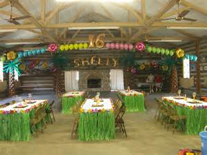 balloon decor of central california themes - Luau Themed Decorations