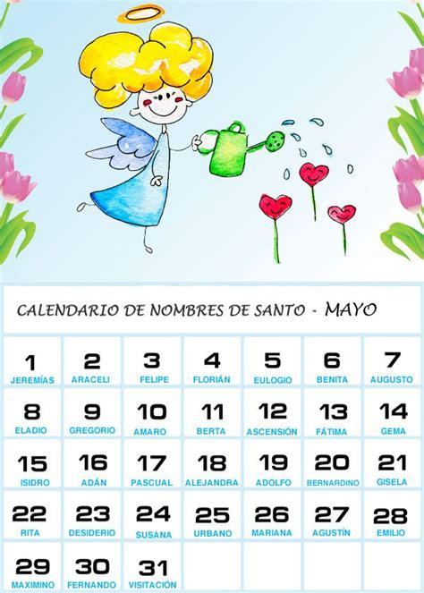 Calendario Mexicano Con Santos Calendario De Los Nombres De Santos De Mayo