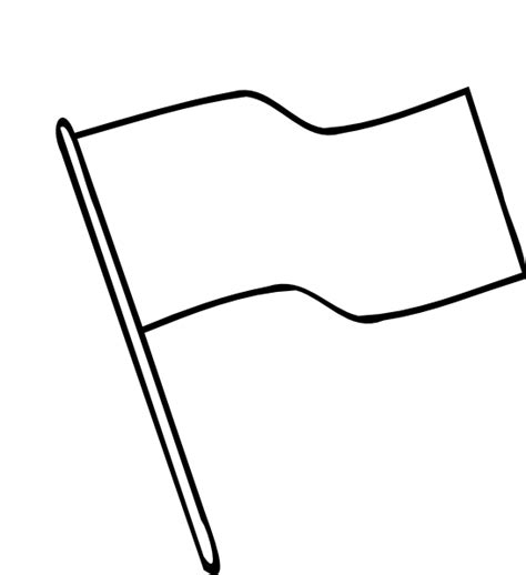 Flag Outline Clip Art At Clker Com Vector Clip Art Flag Template
