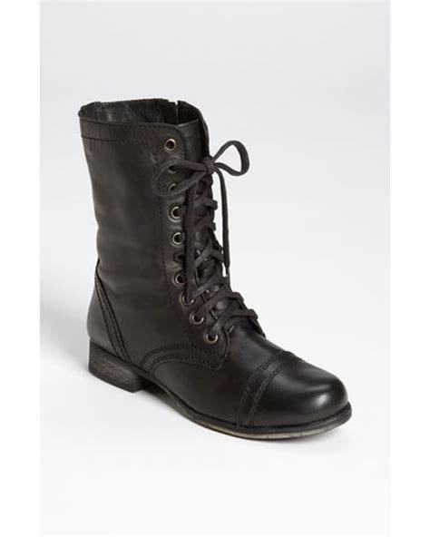steve madden troopa boot in black lyst