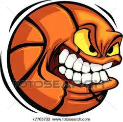 Wall Mural Pricing clipart of basketball face cartoon ball vector k7765733