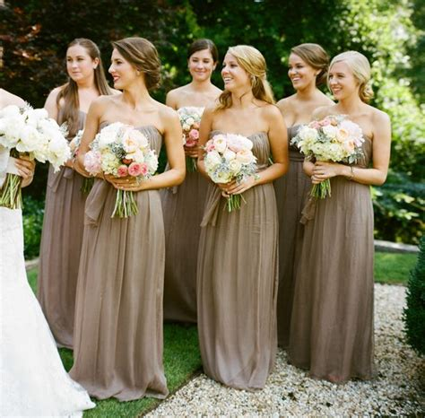 color bridesmaid dresses taupe bridesmaid dresses pinkous