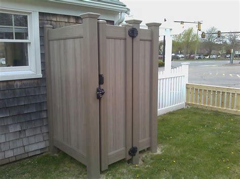 pvc outdoor shower outdoor shower outdoor shower enclosure cedar certified