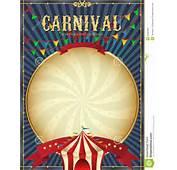 Ilustraci&243n Del Vector Carnaval Vintage Plantilla Cartel
