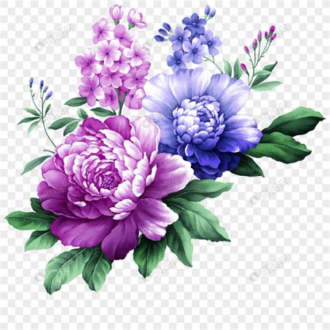 purple aesthetic handpainted flowers  plants festival
