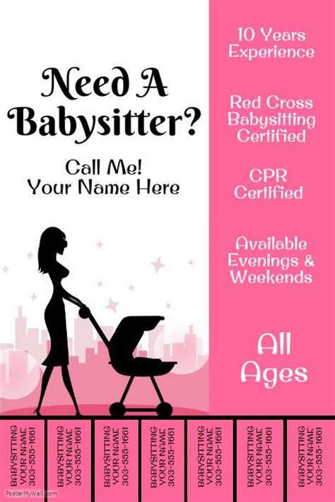 babysitting poster template best 20 babysitting flyers ideas on