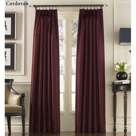 marquee drapes marquee flared faux silk pinch pleat curtain panels