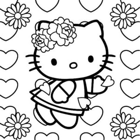 hello kitty coloring pages for valentines day hello kitty say happy valentines day to all coloring
