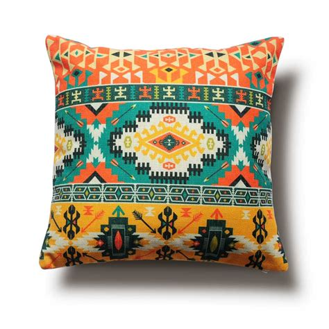 colorful throw pillows aliexpress buy colorful ethnic patterns pillow cover