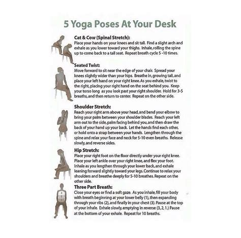 Poses To Do At Your Desk by Poses At Your Desk Trusper