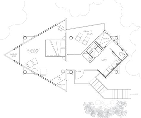 tree house floor plan big sur resorts post ranch inn tree house luxury