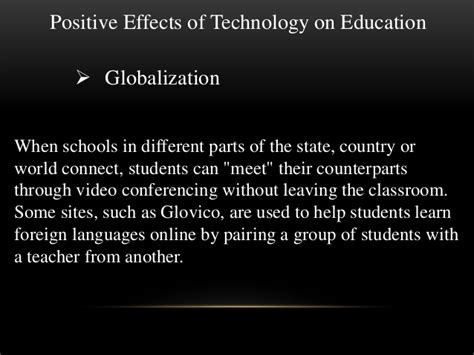 Effects Of Technology Essay by The Effect Of Technology On Education