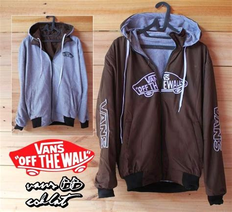 Jaket Sweater Vans Hitam Coklat Distro jual jaket distro vans bolak balik strength merch