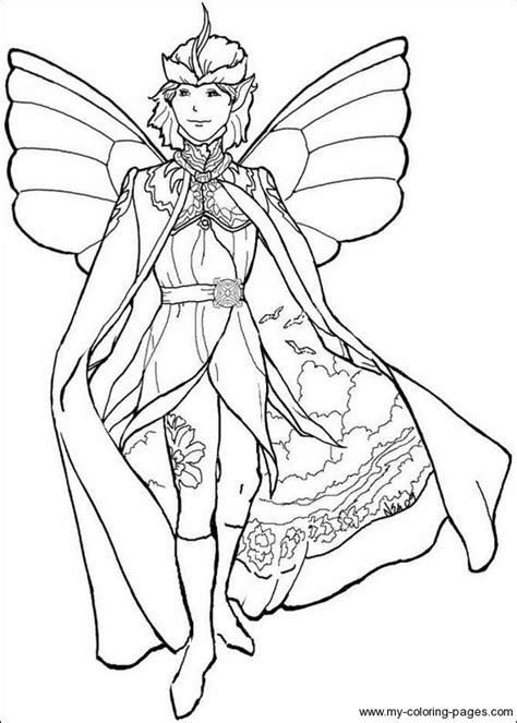 Coloring Pages Of Boy Fairies   icolor quot fairies wee folk quot boy fairy icolor quot fairies