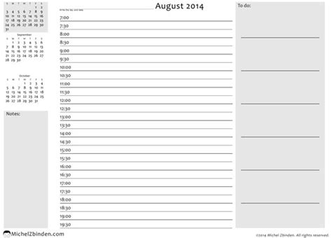 2014 daily calendar template 8 best images of daily calendar 2014 printable free