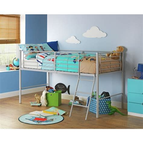 buy home lucas mid sleeper bed frame grey at argos co uk