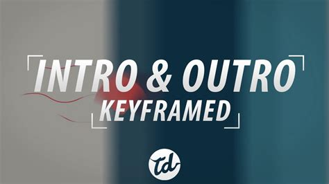 2 2d Intro And Outro Template Keyframed Target Dash Youtube Intro Outro Templates