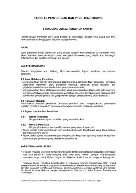 format proposal judul skripsi panduan penyusunan dan penulisan skripsi