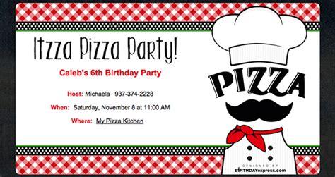 Pizza Party Invitations Theruntime Com Pizza Invitation Template