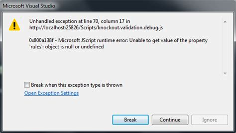 asp net mvc knockout validation error in
