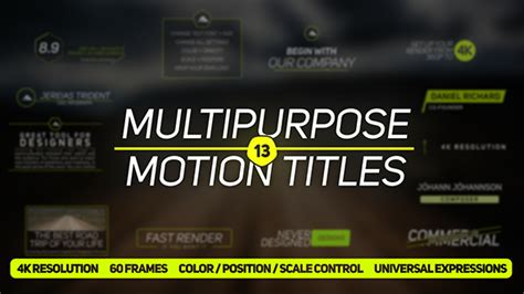 13 multipurpose titles after effects template