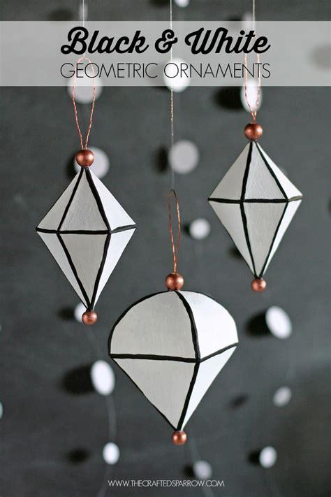 black and white geometric ornaments i heart nap time