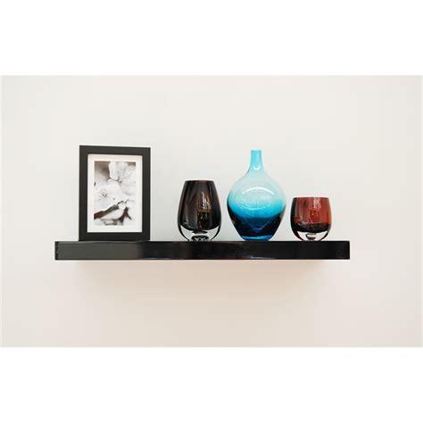 handy shelf floating shelf 600x240x40mm black gloss
