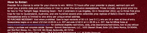 Sweepstakes Regulations Australia - breaking dawn part 1 dvd and bluray twilight lexicon part 2