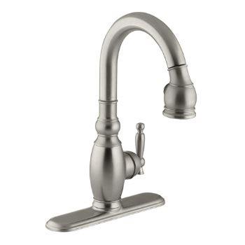 kohler brushed nickel kitchen faucet kohler k 691 bn vinnata pull secondary kitchen faucet