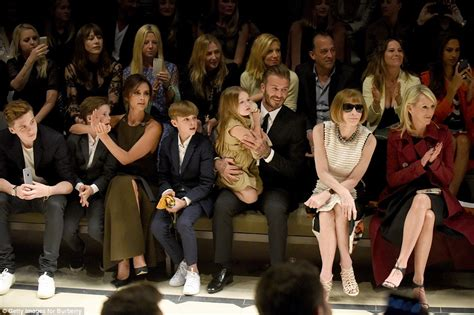 david beckham with daughter harper wife victoria and