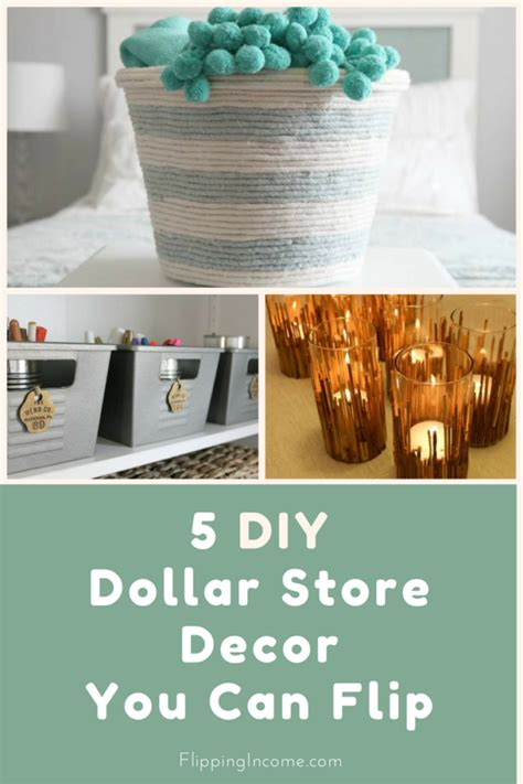 5 diy dollar store decor you can flip flipping income