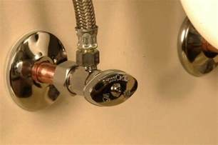 bathroom sink water shut valve fix it friday how to replace a water shutoff valve