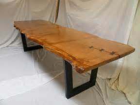 Handmade Kitchen Tables Handmade Table In Pippy Cats Paw Oak With Reclaimed Oak Base Quercus Furniture