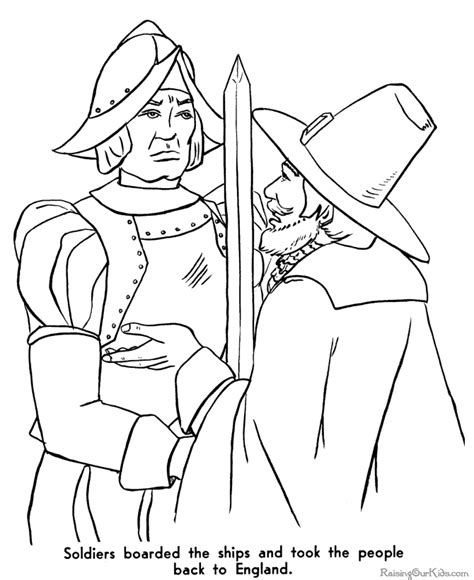 free pilgrim coloring pages 003