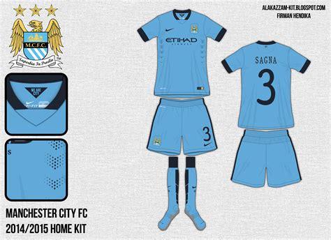 Kaos Australia Bendera Biru Tua manchester city football club 2014 2015 home away kits