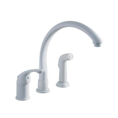 delta white kitchen faucets delta waterfall kitchen faucet white home depot canada