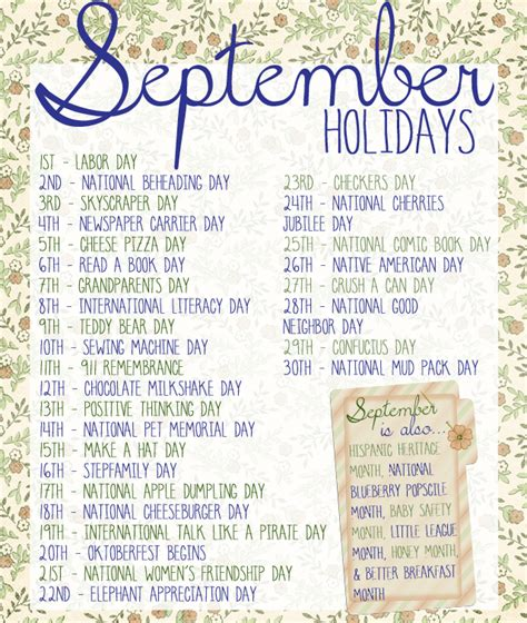 unique holidays our days 30 wonderful holidays to celebrate in september