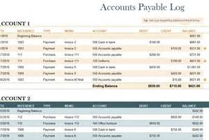 account payable template accounts payable log