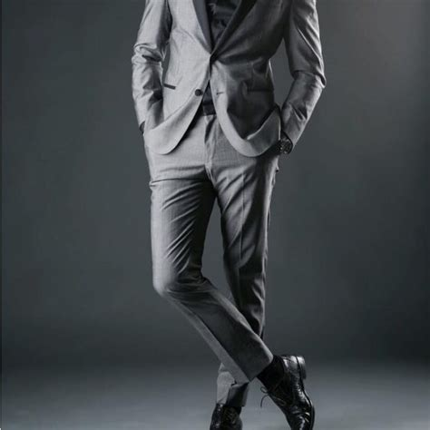 25 grey suit and black shirt combinations the