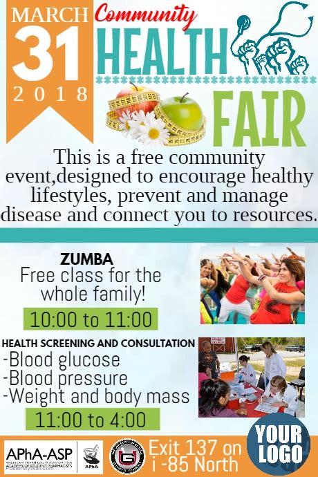 Health Fair Template Postermywall Health Fair Flyer Template Free