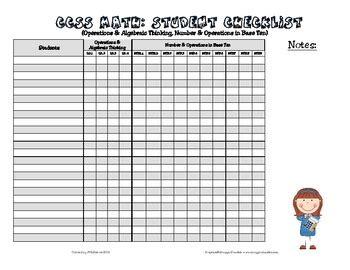 Common Core Checklist 2nd Grade Ela Amp Math By The