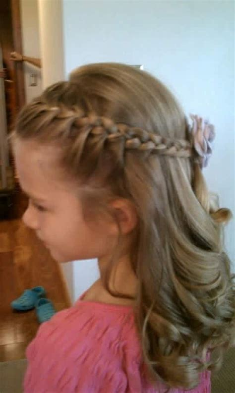hairstyles left down 11 best flower girl dresses and hair images on pinterest