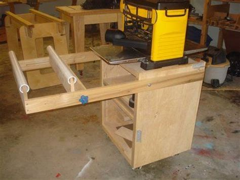 thickness planer cabinetstand woodworking pinterest