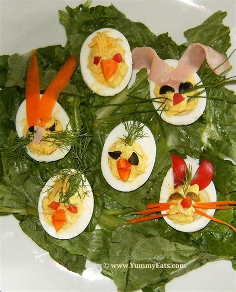 Decorated Deviled Eggs For Easter by Eats Cook Dine Bake Eat