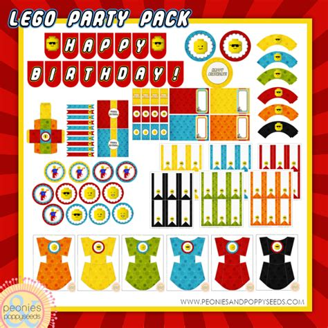 printable banner labels lego party free lego party printable mega pack with