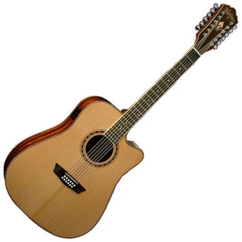 Gitar Washbrun 2 washburn wd10sce 12 saitige elektro akustik gitarre auf