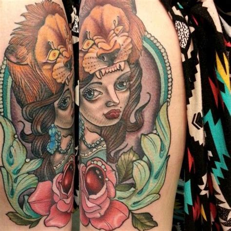 tattoo girl lion girl tattoo lion tattoos pinterest