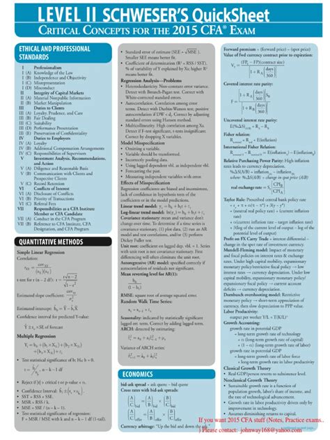 Cfa 2017 Level 2 Paket Document cfa lvl 2 sheet